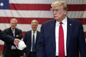 فیلم/ ترامپ همچنان اعتقادی به ماسک ندارد!