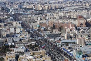 تصاویر هوایی راهپیمایی ۲۲ بهمن تهران