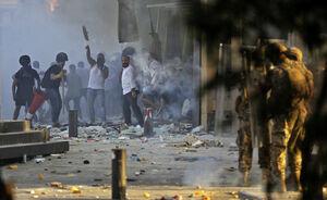 ناآرامی های میدان شهدای بیروت