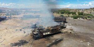 خسارت حمله ائتلاف متجاوز سعودی به البيضاء یمن