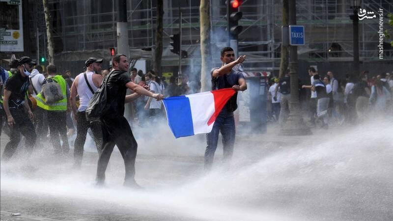 موج جدید تظاهرات گسترده مردم اروپا در اعتراض به سیاستهای کرونایی + فیلم و عکس
