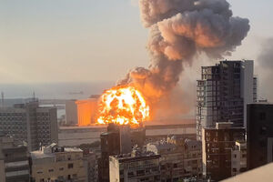 فیلم/ لحظه وحشتناک انفجار بیروت در اتاق زایمان