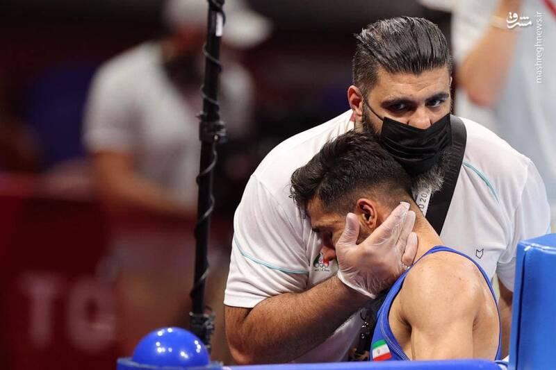 دانیال شه بخش بوکسور وزن ۵۷ کیلوگرم ایران که با پیروزی برابر حریف مراکشی به مرحله یک هشتم نهایی رسیده بود، امروز مقابل آلوارز که مدال طلای جهان و برنز المپیک را در کارنامه دارد، قرار گرفت و به علت مصدومیت، نتیجه بازی را واگذار کرد.