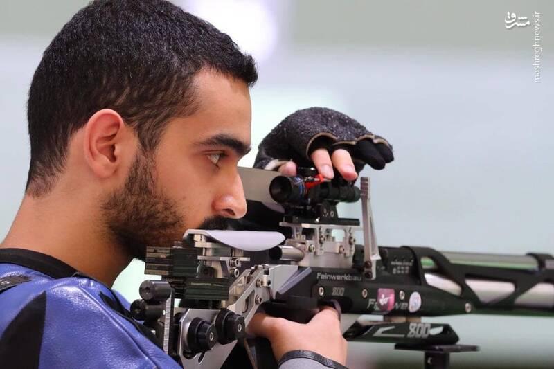 مهیار صداقت نماینده ایران در تیراندازی ماده ۱۰ متر تفنگ بادی