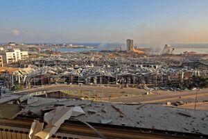 تصاویر هوایی از تخریب عجیب بندر بیروت