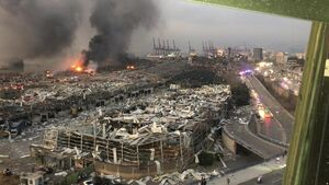 عکس/ بندر بیروت پس از انفجار مهیب