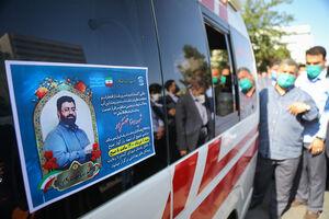 عکس/ تشییع پنجمین شهید مدافع سلامت بیمارستان بقیه الله
