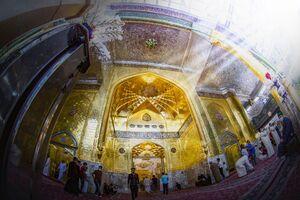 معماری زیبای ایوان طلای آستان قدس عباسی