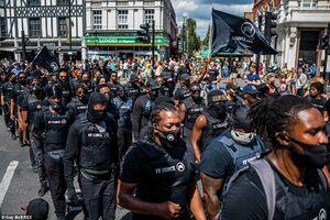 عکس/ لندن در قرق معترضان به قتل جورج فلوید