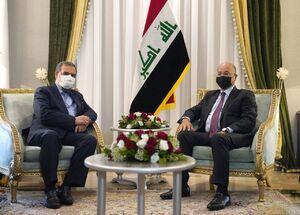 عکس/ دیدار رییسجمهور عراق با محسن رضایی