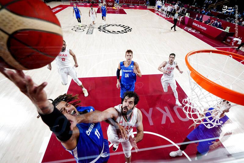 رقابت تیم ملی بسکتبال کشورمان مقابل چک