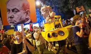تظاهرات علیه نتانیاهو در سراسر سرزمینهای اشغالی