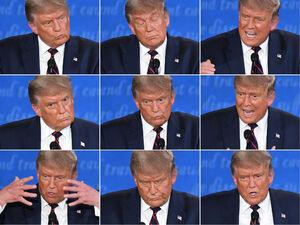 عکس/  اخم و تبسم ترامپ در مناظره