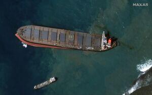تصاویر ماهوارهای از فاجعه زیست محیطی در موریس
