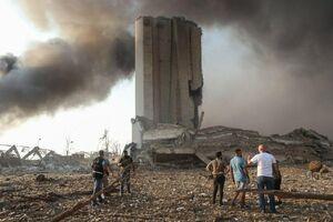عکس/ نقطه صفر محل انفجار در بیروت