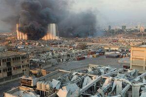 تصاویری از ویرانی به جا مانده از انفجار بیروت
