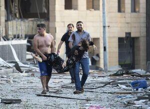 تصویر تراژدیک از یکی از قربانیان انفجار بیروت