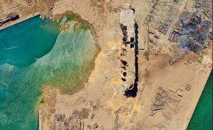 عکس/ محل انفجار بیروت را از بالا ببینید