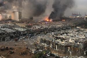 تصاویر جدید از انفجار مهیب در بیروت
