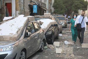 عکس/ خسارت به خودروها در انفجار بیروت