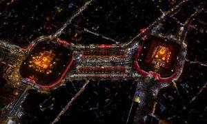 اولین تصاویر هوایی از راهپیمایی اربعین امسال