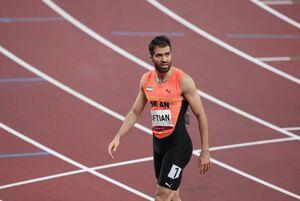 عکس/ رقابت حسن تفتیان دونده ۱۰۰ متر در المپیک