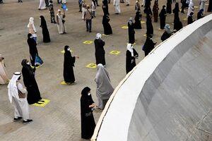 عکس/ مراسم رمی جمرات با فاصلهگذاری