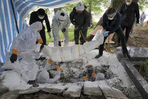 عکس/ تدفین قربانیان کرونا در مازندران