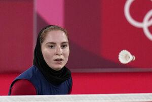 تصاویری از برد تاریخی دختر ایرانی در المپیک