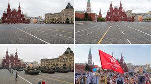 عکس/ تفاوت رژه امسال و سال گذشته در مسکو