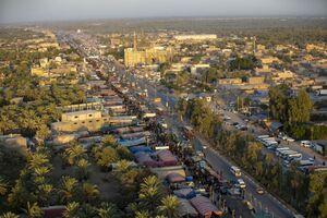 تصاوی هوایی از مسیر پیاده روی اربعین امسال
