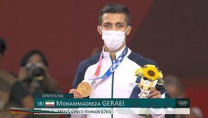 مدال طلا بر گردن محمدرضا گرایی