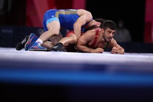 عکس/ رضا اطری از راهیابی به فینال المپیک بازماند