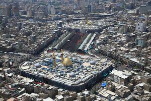 تصاویر هوایی از بین الحرمین در روز عاشورا