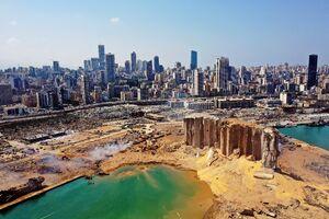 تصویر هوایی بهت آور ازمحل انفجار بیروت