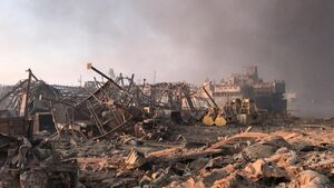 بخشی از خسارات وارده ناشی از انفجار مهیب در بیروت