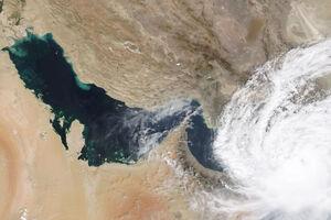 تصویر ماهوارهای ناسا از طوفان در آسمان ایران
